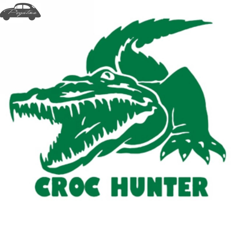 Pegatina Hunt Croc Decal Hunting Crocodile Club Sticker Hollow Sticker Hunter Car Window Vinyl Decal Funny Poster Motorcycle