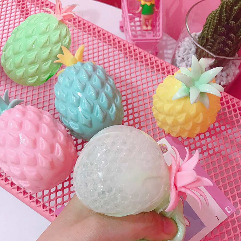 New Antistress pineapple Fruits Squeeze Soft Slow Rising Rare Fun Toy squishy toy Simulation food toy kids gifts #B