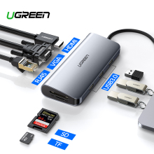 Ugreen Thunderbolt C-To-Hdmi-Hub-Adapter Usb-C-Converter Macbook Samsung Dex 3-Dock Galaxy
