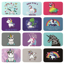 Rugs Doormats Unicorn Horse-Carpets Rainbow Flannel Front Lovely Anti-Slip Quotes Cartoon