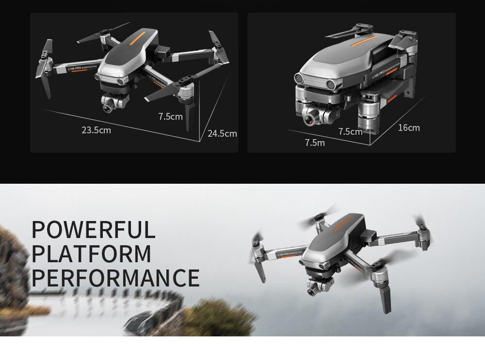 Machine - L109PRO GPS Drone 4K Quadcopter HD ESC Camera Brushless 5G WiFi FPV HD ESC Camera Brushless Helicopter Long Flight Time