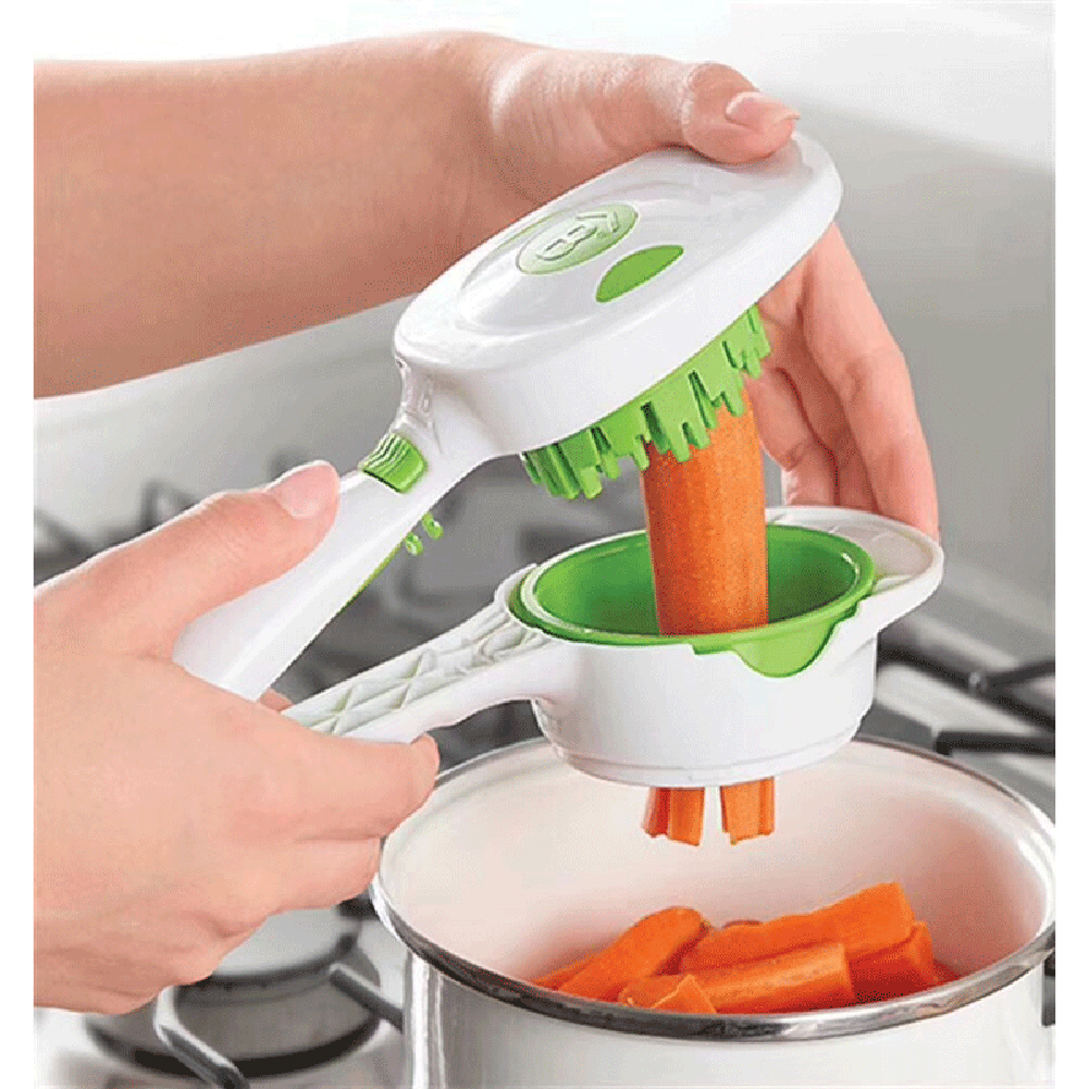 Kitchen Gadgets Potato Handheld Stainless Steel Cutter Vegetable Slicer Set Fast Dicer Multifunction Quick Household Chopper