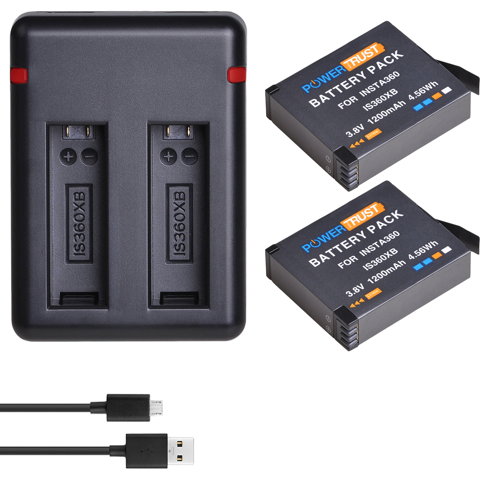 Camera Battery Fast Charging 3 Port Storage Charging Box For Insta360 One X Cam