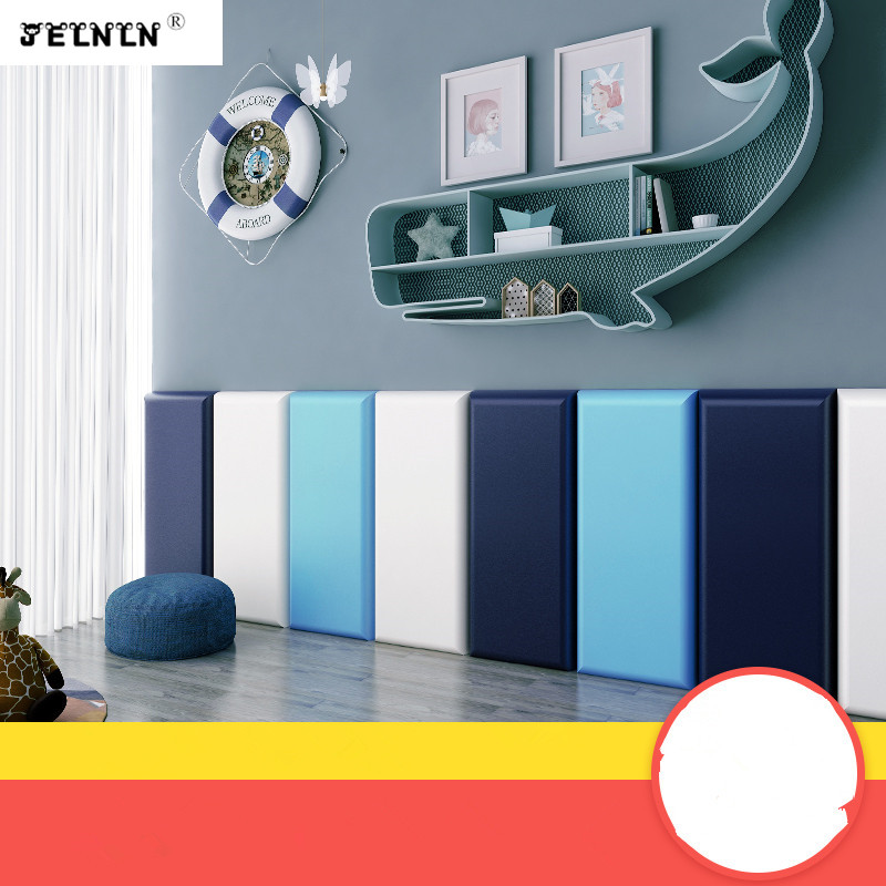 Customized anti-collision headboard tatami soft wall surrounded by Nordic wind kids room bedroom kindergarten 3D wall stickers