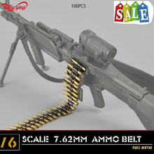 "1/6 scale military figures weapons accessories ZY Toys 7.62 caliber(100PCS)machine bullet chain F 12""action figures doll bullets(China)"