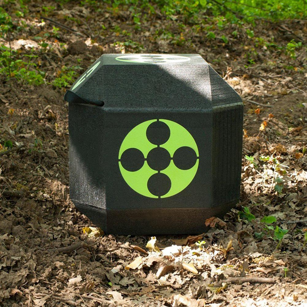 Self-Healing EXPE Target Large Foam Layered Target with Polyfusion Technology Jungles 6-Sided Arrow Archery Target 3D Dice Cube Foam Target with Handle