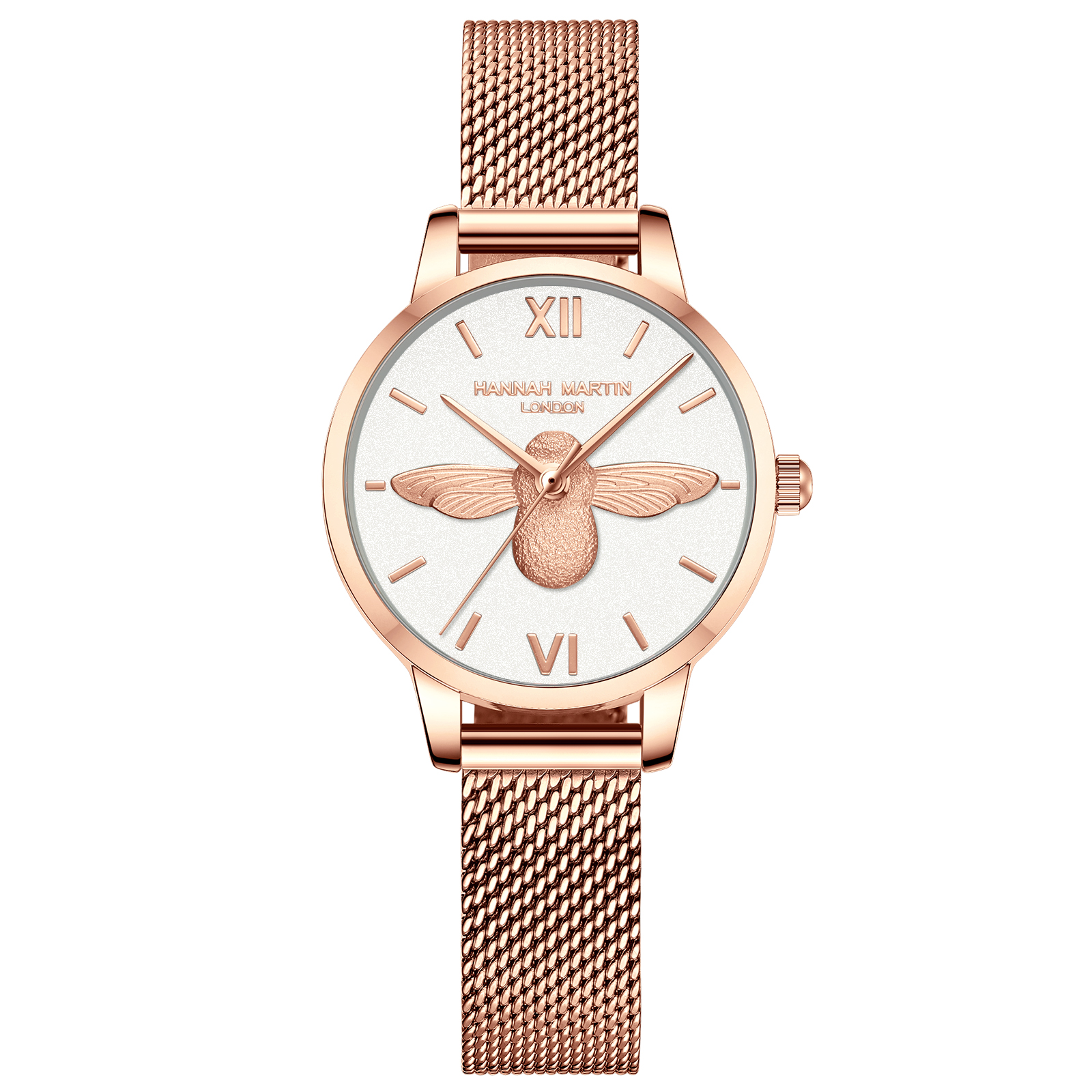 Stainless Steel Mesh Wristwatches Top Brand New Luxury Japan Quartz Movement Rose Gold Designer Elegant Style Watches For Women