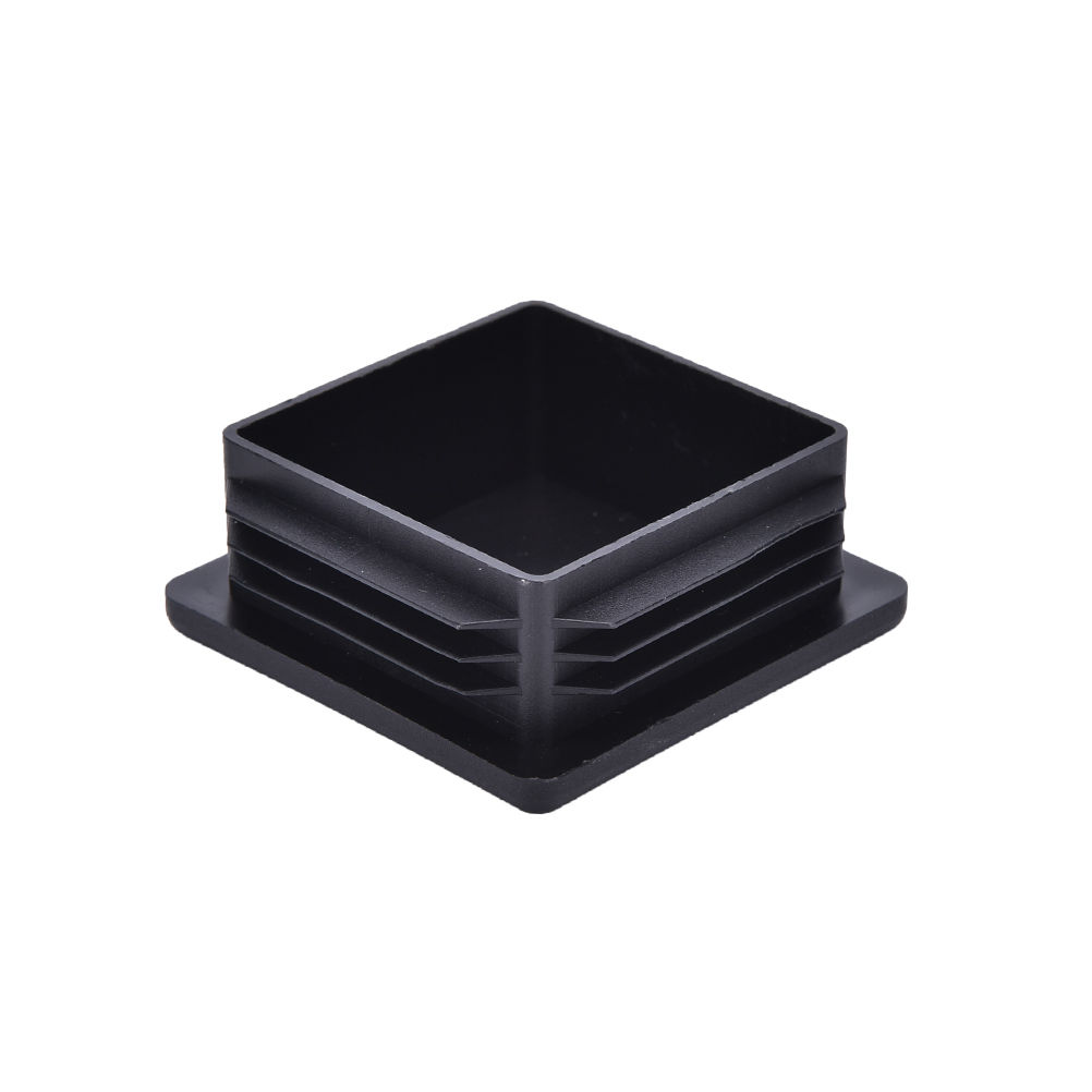 10Pcs Black Plastic Blanking End Caps Square Inserts For Tube Pipe Box Section Furniture Accessories Wholesales hot sale