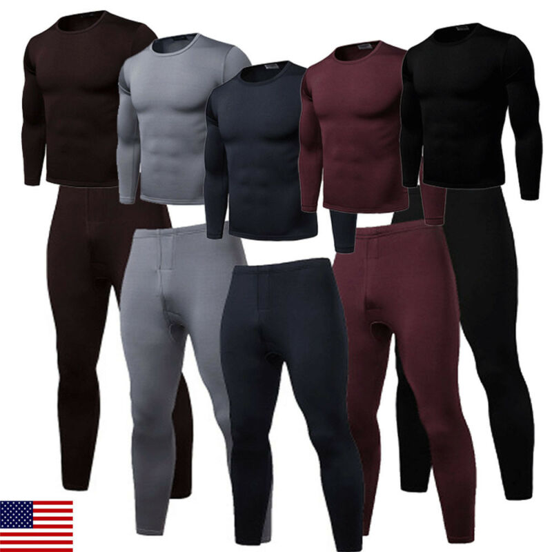 Thermal-Underwear-Sets Russian-Canada Long-Johns Winter Men Thick for And European Keep-Warm title=