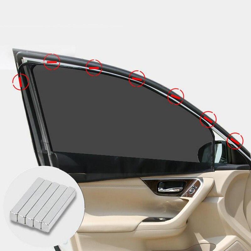 1PC Summer Magnetic Car Sun Shade UV Protection Car Curtain Car Window Sunshade Anti-mosquito Protection Window Film