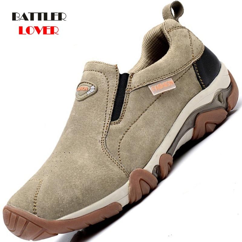Cheapest Winter Boots Men Fashion Fur Flock Winter Shoes Mens Genuine Leather Autumn Ankle Boots Men