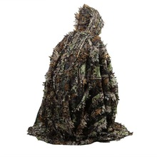 Uniforme Cloak Ghillie-Suit Poncho Hunting-Clothes Leaves Stealth Sniper Militar Moro