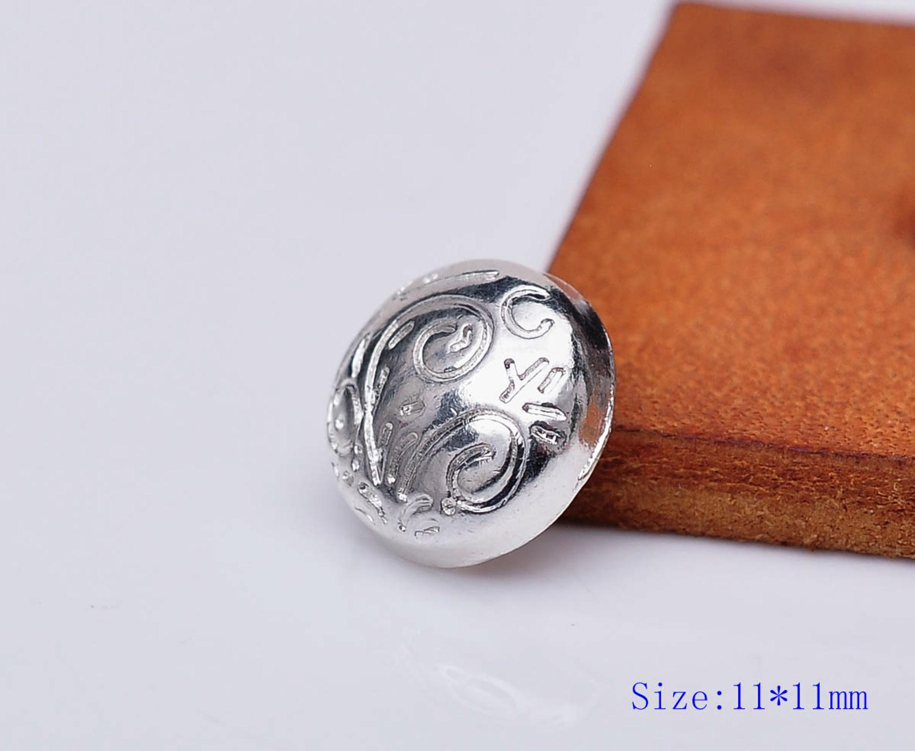 30x Antique Silver Flower Rapid Rivet Studs Belt Bag Leathercraft Concho 11mm