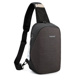 Tigernu Fashion Men Male Bags Casual Splashproof Sling Bag 9.7 inch Crossbody Bags for Women Messenger Black Men Shoulder Bags
