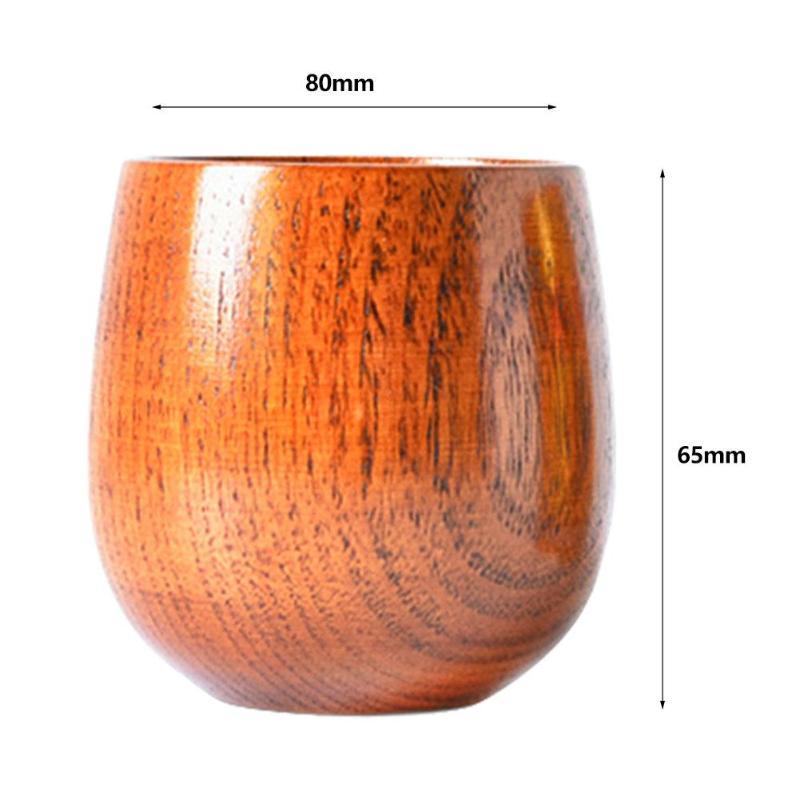 Ceylon Handmade Wooden Cup Primitive Drinking Cup Coffee Beer Drinkware Travel
