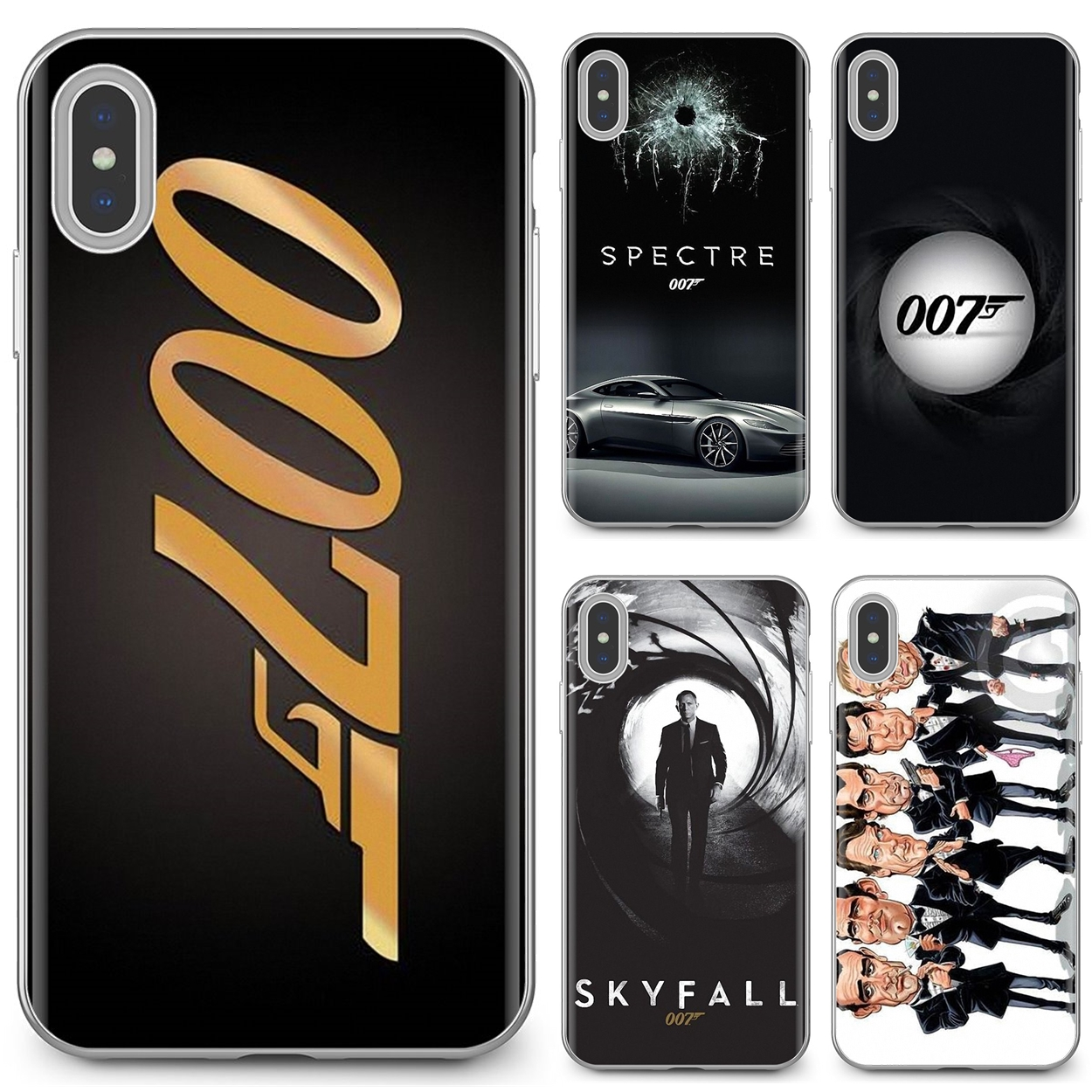 Мягкий чехол для iPhone 11 Pro 4 4S 5 5S SE 5C 6 6S 7 8X10 XR XS Plus Max iPod Touch JAMES BOND 007 SPONSORS Skyfall