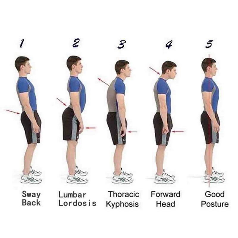 Standing - Back Waist Posture Corrector Adjustable Adult Corset Correction Belt Trainer Shoulder Lumbar Brace Spine Support Belt Vest