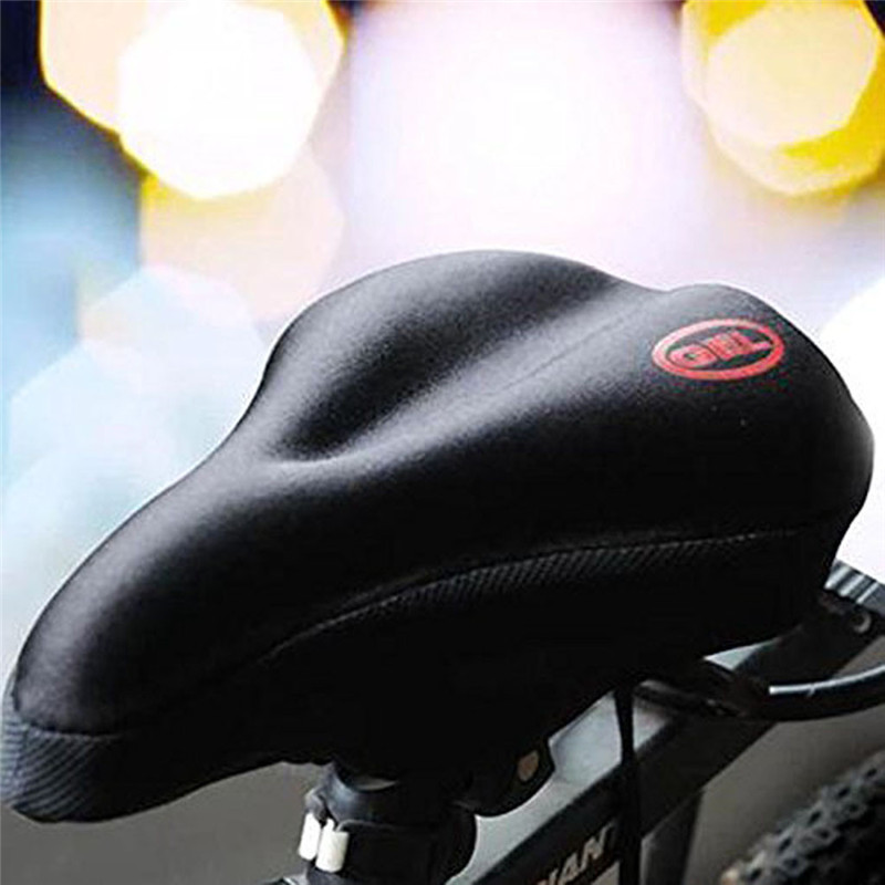 Apparel - New Wider Bicycle Silicone Seat Cushion Soft Pad Bike Silica Gel Seat Saddle Cover Ergonomic Comfort Seat Pads