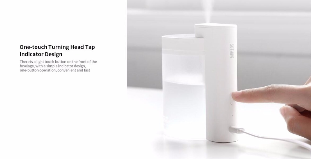 Xiaomi Sothing Desktop humidifier Ultrasound mute USB charge 260ML Transparent Tank Two humidification modes Desktop Diffuser (6)