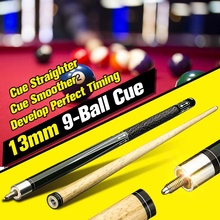 Pool-Cue-Stick Billiard-Cues Snooker 145cm Wood 13mm Exercising-Tool Straighter 1/2-Split