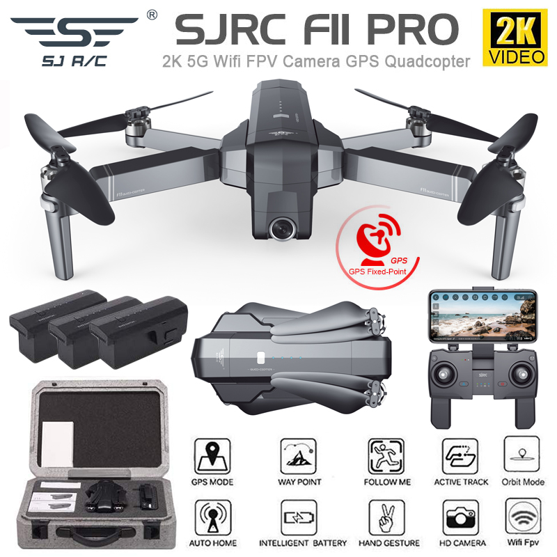 GPS Drone Quadcopter Camera Foldable SG906 F11 Pro 1080P/2K Wifi Brushless SJRC  title=