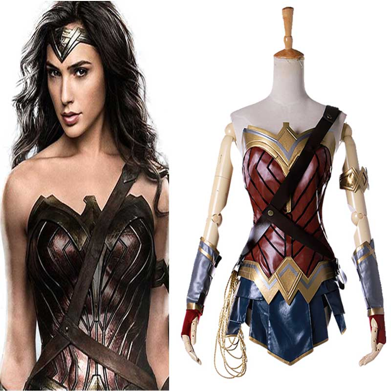Justice League Wonder Woman Cosplay Wonder Woman Costume Superhero Suit Fancy Dress Halloween Costume for Women Adult Kids Girls title=