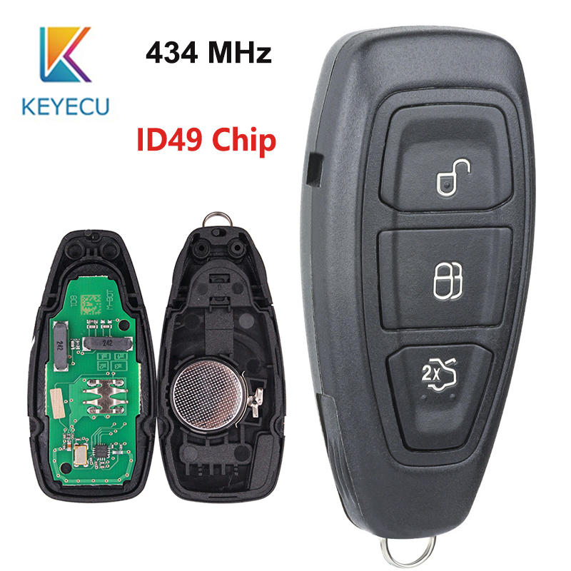 KEYECU Smart Remote Key 3 Button 434MHz ID49 PCF7953 Chip for Ford Focus C-Max Focus Grand C-Max Mondeo 2014-2018 FCC: KR5876268