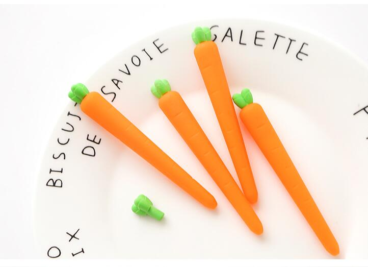 DIY Neuheit Korrekturen Karotte Form Korrekturen Radiergummi Student Supplies