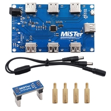 Manual welding MisTer USB Hub v2.1 board For MisTer FPGA 7 USB Ports Dropship