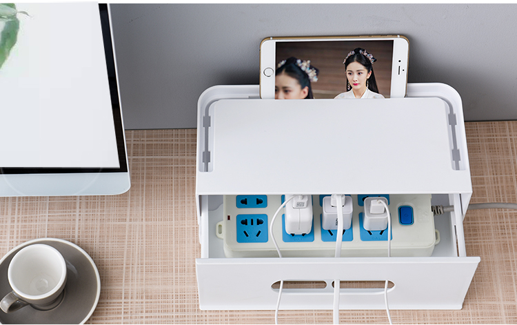 Double Layers Drawer Type WIFI Router Storage Box 75
