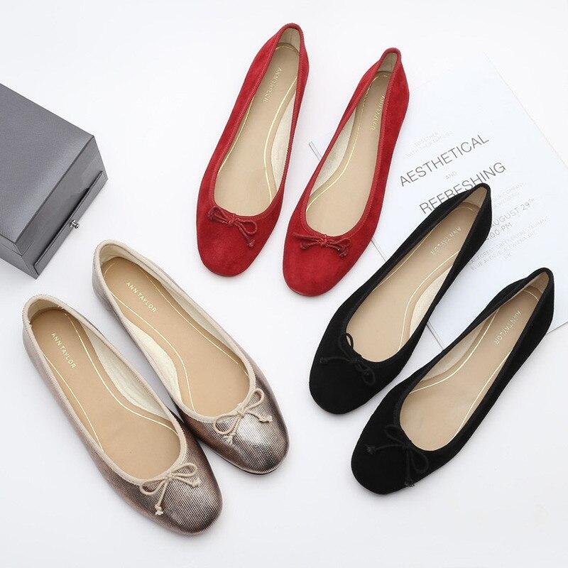 Casual Woman Platform Shoes Dress Flats Women Women/'s Ballerina Round Toe Shallow Mouth Bow-Knot Nurse Ballerinas Boat Moccasin