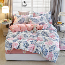 Blanket Cover Bedding-Set 220x240 Pillowcase 175x220 Chinese 210x210 3pcs Leaf-Pattern