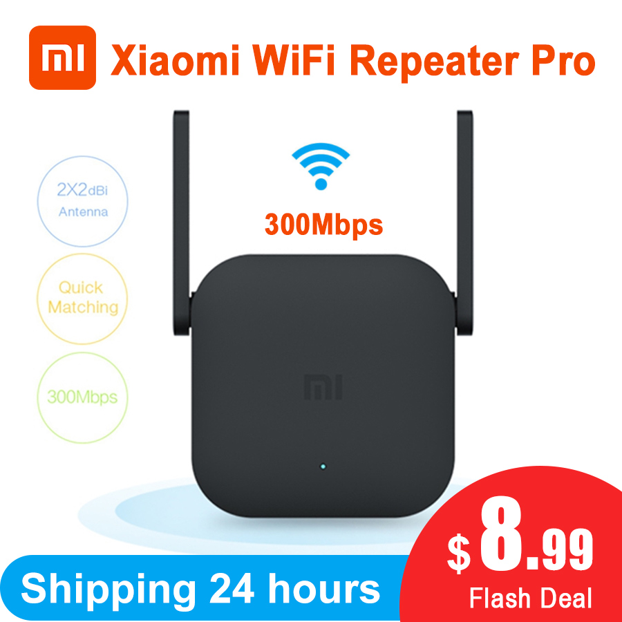 Xiaomi Wifi Repeater Router Expander Network Mi-Amplifier 300M Roteador 2-Antenna Mijia title=