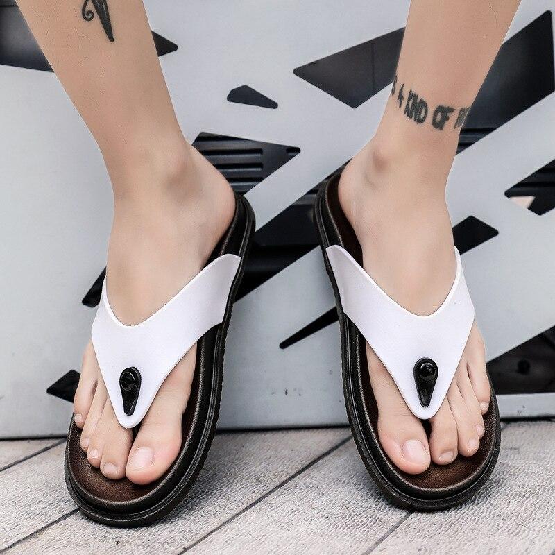 Classic MEN/'S Flip Flops Summer Anti-slip Outdoor Slippers Flip-flops Men/'s Casual Rubber Sandals Trend