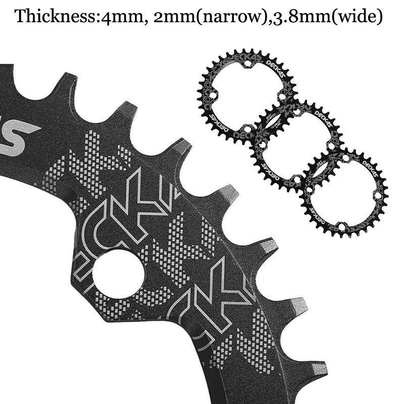 DECKAS Chainring 96BCD-S Narrow Wide MTB Chain Ring MTB Road Bicycle RoundOval Chainwheel 32-38T Fit SHIMANO XTR,XT,SLX (2)