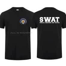 Police T-Shirt SWAT Gotham City Harajuku Streetwear Tops Short-Sleeve Cotton Tees GCPD