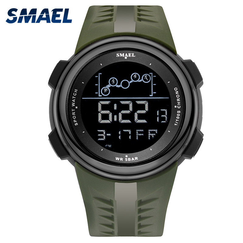 SMAEL Digital Wrist watches men Sport LED Display Electronic Clock Male Alarm Clocks Chronograph fanshion Watch Hombre Man 1703