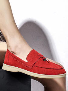 SCow-Suede-Loafers Fl...