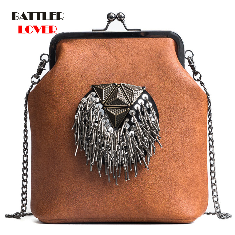2020 New Spring Shell Shoulder Bags Punk Style Rivet Women Youth Leather Handbags Girl Fashion Chain Crossbody Bag Ladies Flaps