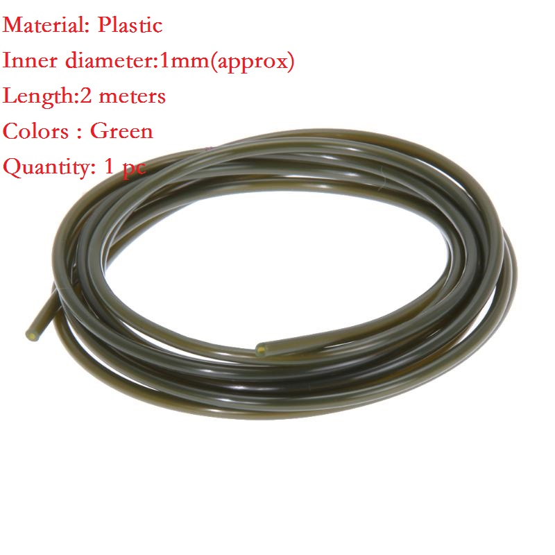 Pretend-Fishing-Lines Carping-Accessories Inner-Diameter Green 1mm for 2m Rigs-Tube Id-Sleeve title=