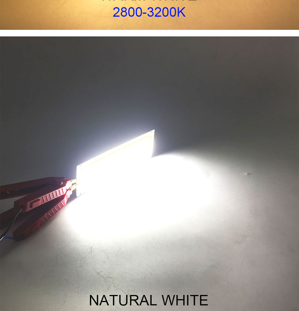 COOLEEON 12036mm COB LED Bulb DC 12V 10W Light Emitting Diode Red Blue Warm Natural Cool White LED Lamp for DIY Car Lighting (10)