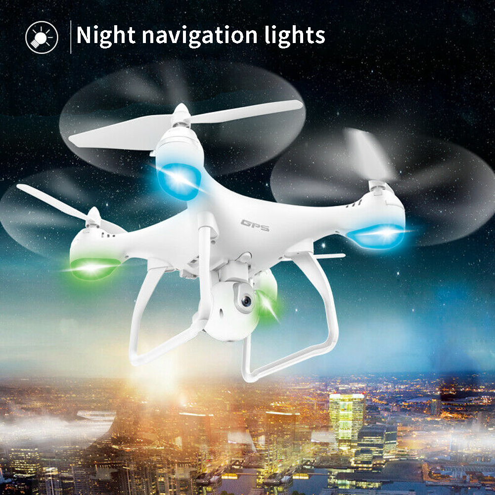 Rc-Quadcopter Drones Camera Transmission-Camera Selfie WIFI NEW GPS HD with 25-Minutes title=