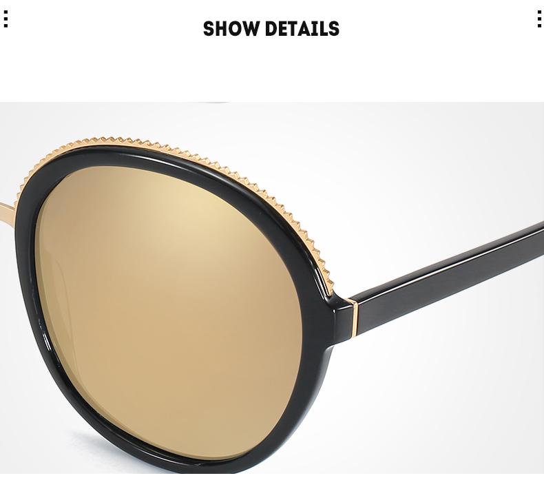 Women Sunglasses Frame Glasses Polariod Lens UV400 Polarized Sunglasses Women Fashion Round Frame Eyewear Glasses (30)