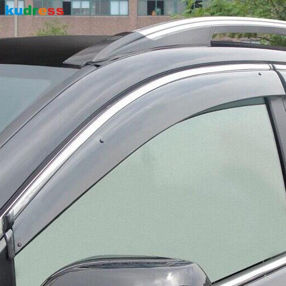 Fit VW Volkswagen Atlas 2018 2019 Chrome Window Visor Rain Sun Guard Shade Vent