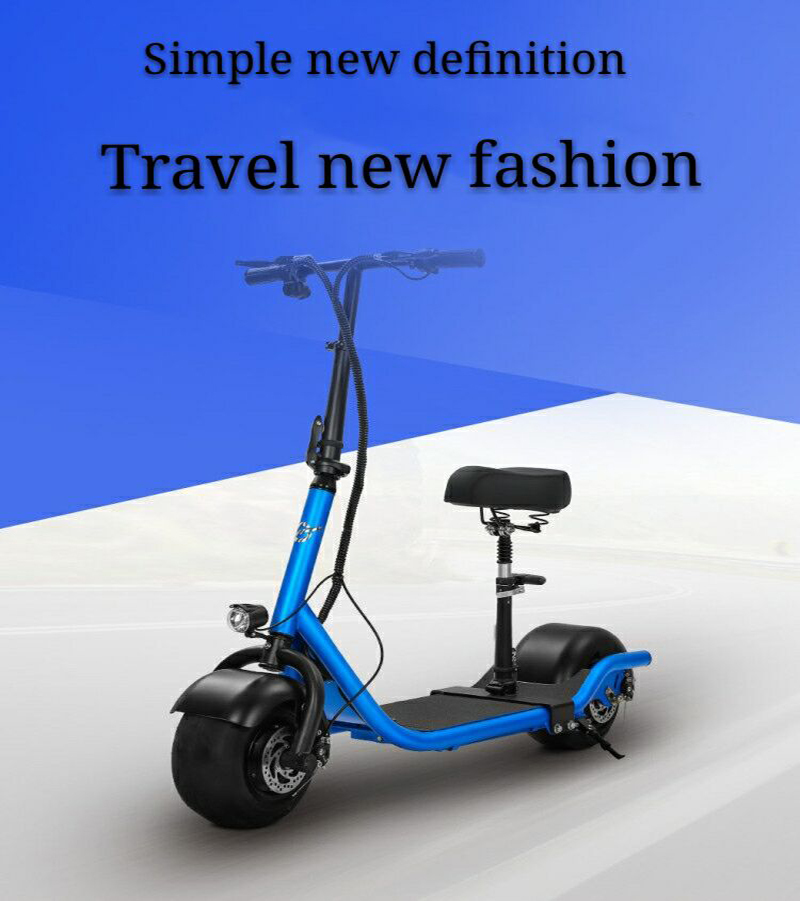 Electric Scooter Bike Two Wheels Electric Scooter 36V 350W Motorcycle Portable Smart Electric Citycoco Scooter With Seat         (1)