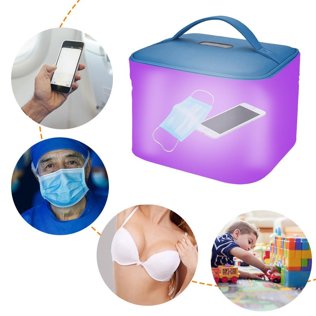 Human - Blue Disinfecting Box UV Sterilizer Box USB Disinfecting Bag Cleaner Disinfection Cabinet Sterilization Box Storage Box