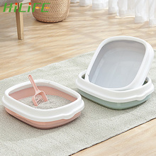 Dog-Tray Sand-Litter-Box Pet-Toilet Training Bedpan Scoop Cat with Anti-Splash Excrement