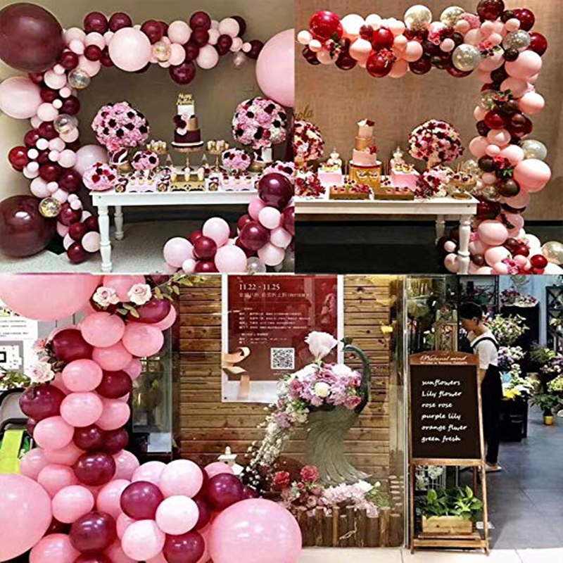 Balloons-Pink-Gold-Confetti-Balloons-Garland-and-Gold-Party-Decorations-Burgundy-and-Gold-Wedding-Decorations (4)