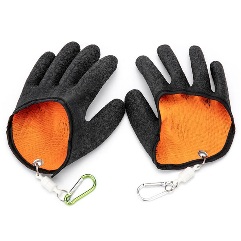 1pc Durable Portable Outdoor Fishing AntiSlip Rubber Glove Catch Fish Protect