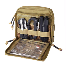 Organizer Admin-Pouch Tactical-Gear for Molle System-Tan Edc-Tool Utility-Map